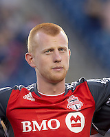Toronto FC defender Richard Eckersley (27). In a Major League Soccer (MLS) match, the New England Revolution tied Toronto FC, 0-0, at Gillette Stadium on June 15, 2011.