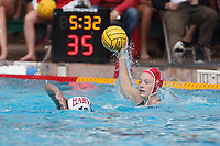 Stanford, CA - March 23, 2019: Mackenzie Wiley during the Stanford vs. Harvard women's water polo game at Avery Aquatic Center Saturday.<br /> <br /> The Cardinal won 20-7.
