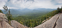View of Mt. Marcy from Mt. Von Hoevenberg, Adirondack Mountains, New York.(Mt. Marcy on the horizon, the tallest mountain in NY State)