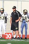 Palos Verdes, CA 11/10/10 - Coach Brian Hultz in action during the junior varsity football game between Peninsula and Palos Verdes at Palos Verdes High School.