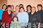 TEA PARTY: Enjoying the tea party in Currow Community Centre last Sunday. Front row l-r: Ann Marie Murphy, Betty Scanlon, Siobhan Brosnan, Margaret Brosnan and Marian Boyle. Back row l-r: Madeline Burke, Mary Brosnan, Sheila Ahern, Noreen Enright and Ann OCallaghan..