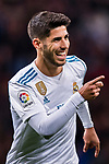 Marco Asensio Willemsen of Real Madrid celebrates after scoring his goal  during the La Liga 2017-18 match between Real Madrid and UD Las Palmas at Estadio Santiago Bernabeu on November 05 2017 in Madrid, Spain. Photo by Diego Gonzalez / Power Sport Images
