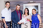 Little Aisling Dolores Smith Knocknagree celebrated her christening with her parents Wayne Smith and Siobhan Kiely and god parents JohnDaniel Kelly and Loretta Ryan in the Castlerosse Hotel on sunday