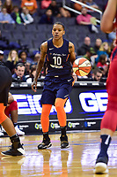 Washington, DC - June 3, 2018: Connecticut Sun guard Courtney Williams (10) with the ball during game between the Washington Mystics and Connecticut Sun at the Capital One Arena in Washington, DC. (Photo by Phil Peters/Media Images International)