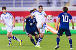 Fozil Musaev of Uzbekistan (C) in action during the AFC Asian Cup UAE 2019 Group F match between Japan (JPN) and Uzbekistan (UZB) at Khalifa Bin Zayed Stadium on 17 January 2019 in Al Ain, United Arab Emirates. Photo by Marcio Rodrigo Machado / Power Sport Images