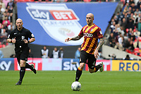 Nicky Law of Bradford City in action during Bradford City vs Millwall, Sky Bet EFL League 1 Play-Off Final at Wembley Stadium on 20th May 2017