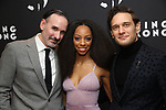 "Erik Lochtefeld, Christiani Pitts and Eric William Morris attends the Broadway Opening Night After Party for ""King Kong - Alive On Broadway"" at Cucina & Co. on November 8, 2018 in New York City."