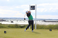 Caolan Rafferty (Dundalk) on the 15th tee during Round 1 of the The Amateur Championship 2019 at The Island Golf Club, Co. Dublin on Monday 17th June 2019.<br /> Picture:  Thos Caffrey / Golffile<br /> <br /> All photo usage must carry mandatory copyright credit (© Golffile | Thos Caffrey)
