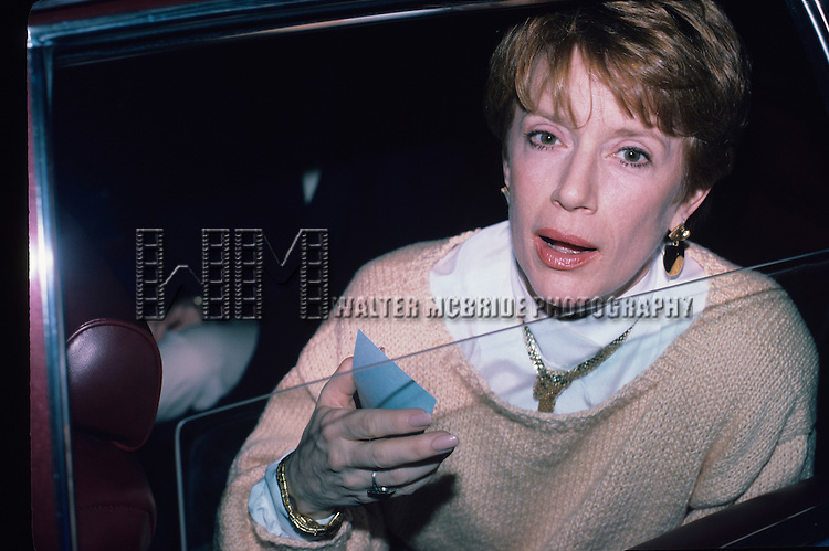 Nancy Dussault pictured in New York City in Febuary ofr 1985.