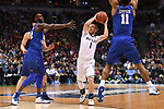MILWAUKEE, WI - MARCH 18: Butler Bulldogs guard Tyler Lewis (1) looks to pass through the Middle Tennessee Blue Raiders defense during the 2017 NCAA Men's Basketball Tournament held at BMO Harris Bradley Center on March 18, 2017 in Milwaukee, Wisconsin. (Photo by Jamie Schwaberow/NCAA Photos via Getty Images)