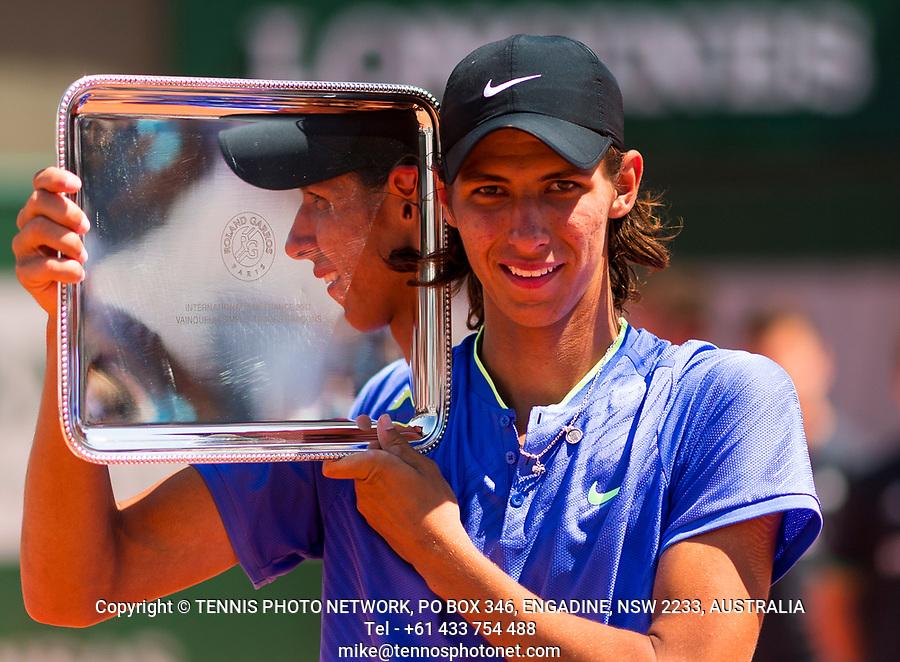 ALEXI POPYRIN (AUS)<br /> <br /> TENNIS - FRENCH OPEN - ROLAND GARROS - ATP - WTA - ITF - GRAND SLAM - CHAMPIONSHIPS - PARIS - FRANCE - 2017  <br /> <br /> <br /> <br /> &copy; TENNIS PHOTO NETWORK
