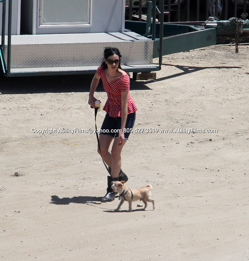 June 19th 2013 <br /> <br /> Kristen Bell &amp; Krysten Ritter petting her dog &amp; taking pictures while filming the tv show Veronica Mars in Los Angeles. <br /> <br /> AbilityFilms@yahoo.com<br /> 805 427 3519<br /> www.AbilityFilms.com