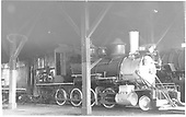 3/4 engineer's-side view of D&amp;RGW #278 in Gunnison roundhouse.<br /> D&amp;RGW  Gunnison, CO  Taken by Horan, John F. - 3/1953
