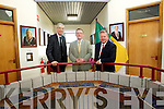 Former Fine Gael leader, Alan Dukes; of GPCE ,  Rory Doyle, Chief Executive of the proposed new centre and Pat Barry, Chief Executive of Pharmadel pictured in Kerry County Council chamber at the announccement of 300 jobs for Tralee . 300 jobs for Tralee as part of new pharmaceutical research centre based in Tralee . Three international pharmaceutical organisations today announced almost 300 new jobs for Kerry, as part of Phase One of the development of the proposed Global Pharmaceutical Centre of Excellence (GPCE) in Tralee.