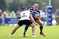 Max Clark of Bath United in possession. Premiership Rugby Shield match, between Bristol Bears A and Bath United on August 31, 2018 at the Cribbs Causeway Ground in Bristol, England. Photo by: Patrick Khachfe / Onside Images
