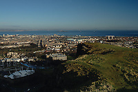 Edinburgh and the Firth of Forth from Salisbury Crags, Lothian<br /> <br /> Copyright www.scottishhorizons.co.uk/Keith Fergus 2011 All Rights Reserved