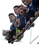 27-9-2014:  Kerry minors pictured at the Kerry team homecoming in Tralee last evening.<br /> Picture by Don MacMonagle