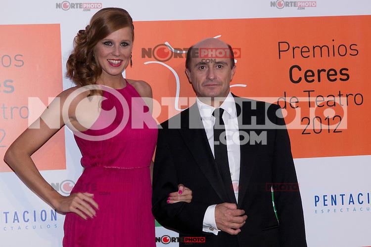 30.08.2012. Photocall guests and winners in the 'Ceres Theatre Awards 2012' in Merida (Extremadura). In the image Maria Castro and Pepe Viyuela (Alterphotos/Marta Gonzalez) /Nortephoto.com<br /> <br />  **CREDITO*OBLIGATORIO** *No*Venta*A*Terceros*<br /> *No*Sale*So*third* ***No*Se*Permite*Hacer Archivo***No*Sale*So*third*