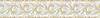 "7 1/8"" Bramble border, a hand-cut stone mosaic, shown in polished Crema Marfil and Calacatta Tia."