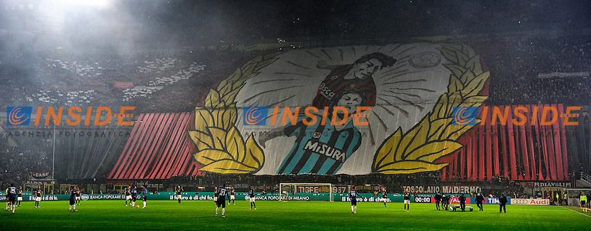 Coreografia tifosi Milan Supporters <br /> Milano 31-01-2016 Stadio Giuseppe Meazza - Football Calcio Serie A Milan - Inter. Foto Giuseppe Celeste / Insidefoto