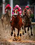 LOUISVILLE, KENTUCKY - MAY 04:  Maximum Security crosses the wire first in the Kentucky Derby at Churchill Downs in Louisville, Kentucky on May 04, 2019. Evers/Eclipse Sportswire/CSM