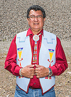Chairman Manuel Heart with Ute Mountain Ute tribe at Lake Nighthorse near Durango, Colorado, Tuesday, August 18, 2015. Lake Nighthorse is a reservoir created by the 270 feet (82 m) high Ridges Basin Dam built as part of the Animas-La Plata Water Project, Lake Nighthorse provides water storage for tribal and water right claim-holders along the Animas River.<br /> <br /> Photo by Matt Nager