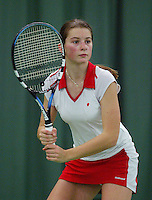 10-3-06, Netherlands, tennis, Rotterdam, National indoor junior tennis championchips, Quirine Lemoine