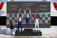 Race 2, GT3 CAN, Platinum Podium, #79 Mark Motors Racing, Porsche 991 / 2019, GT3CP: Roman DeAngelis, #99 Kelly-Moss/AM Motorsports, Porsche 991 / 2019, GT3CP: Alan Metni (M), #40 Policaro Motorsport, Porsche 991 / 2019, GT3CP: Ethan Simioni