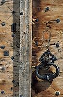 Europe/France/Aquitaine/64/Pyrénées-Atlantiques/Barcus: Détail d'une porte