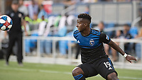 San Jose, CA - Tuesday June 11, 2019: Siad Haji #19 during the US Open Cup match between the San Jose Earthquakes and Sacramento Republic FC at Avaya Stadium.