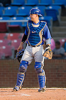 Catcher Ryan McCurdy #10 of the Duke Blue Devils on defense against the Wake Forest Demon Deacons at the Wake Forest Baseball Park April 23, 2010, in Winston-Salem, NC.  Photo by Brian Westerholt / Sports On Film