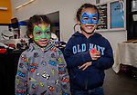 WATERBURY, CT. 22 April 2018-042218BS22 - From left, superheroes Mercuree Womack, 3, and his brother Aryn, 5, both from WATERBURY pose for a photo during the Brass City Comic-Con at Naugatuck Valley Community College on Sunday afternoon. Bill Shettle Republican-American