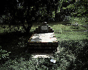 The cemetery of Shyama Gangarai is seen at Balighato village in Kalinganagar, Orissa, India. Shyama Gangarai was injured during a police shootout on the agitators on January 2nd 2006 and later died in hospital on March 11th 2006.