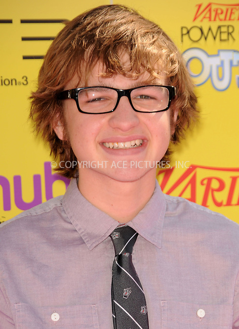 WWW.ACEPIXS.COM . . . . .  ....October 22 2011, LA....Angus T. Jones arriving at Variety's 5th Annual Power of Youth event at Paramount Studios on October 22, 2011 in Hollywood, California....Please byline: PETER WEST - ACE PICTURES.... *** ***..Ace Pictures, Inc:  ..Philip Vaughan (212) 243-8787 or (646) 679 0430..e-mail: info@acepixs.com..web: http://www.acepixs.com