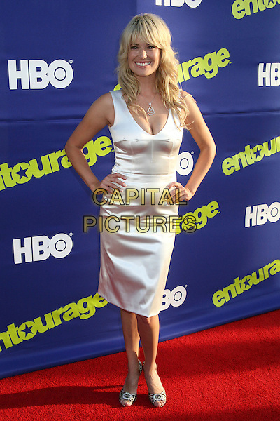 "MELISSA KELLER.Season Premiere of HBO's ""Entourage"" at the Cinerama Dome, Hollywood, California, USA..June 1st, 2006.Photo: Byron Purvis/AdMedia/Capital Pictures.Ref: BP/ADM.full length white satin dress.www.capitalpictures.com.sales@capitalpictures.com.© Capital Pictures."