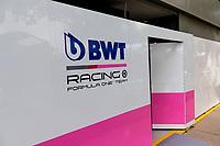 13th March 2020; Melbourne Grand Prix Circuit, Melbourne, Victoria, Australia; Formula One, Australian Grand Prix, Practice Day; Racing Point garage