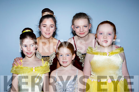 Preparing to go on stage in the Kerry School of Music's Ballet Spectacular show in Siamsa Tire on Sunday afternoon last. Front l-r, Katie Turner, Natalie Turner and Mairead Mahoney. Back l-r, Saoirse Coffey and Siobhan Brosnan.