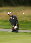Rhys Enoch chips onto the 2nd hole during the second round of the ISPS Handa Wales Open 2013 at the Celtic Manor Resort<br /> <br /> 30.08.13<br /> <br /> ©Steve Pope-Sportingwales