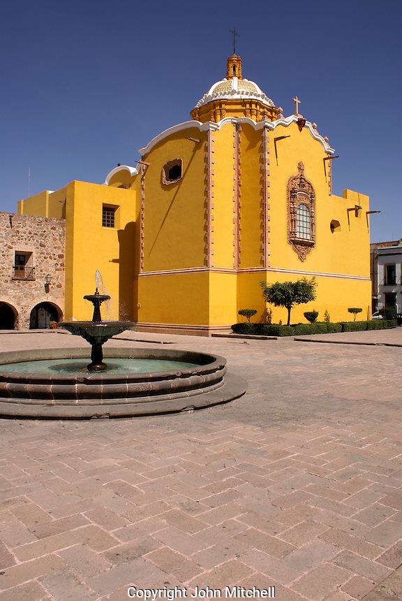 The Plaza de Aranzazu in the city of San Luis de Potosi, Mexico