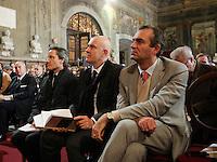 Apertura Anno Giudiziario nel distretto di Napoli nello storico salone dei Busti di Castel Capuano<br /> Cstefano caldoro, gioacchino alfano, luigi de magistris