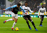 Burnley's Jeff Hendrick vies for possession with Fulham's Ryan Sessegnon <br /> <br /> Photographer Alex Dodd/CameraSport<br /> <br /> The Premier League - Burnley v Fulham - Saturday 12th January 2019 - Turf Moor - Burnley<br /> <br /> World Copyright © 2019 CameraSport. All rights reserved. 43 Linden Ave. Countesthorpe. Leicester. England. LE8 5PG - Tel: +44 (0) 116 277 4147 - admin@camerasport.com - www.camerasport.com