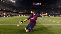 Barcelona, Spain, 01.05.2019, UEFA Champions League - 2018/19 Season, Halblfinale, 2. Runde, FC Barcelona Barca - FC Liverpool, Luis Suarez (Barcelona) celebrates after scoring his team s first goal ( DeFodi523 *** Barcelona Spain 01 05 2019 UEFA Champions League 2018 19 Season Half Final 2 Round FC Barcelona FC Liverpool Luis Suarez Barcelona celebrates after scoring his team s first goal DeFodi523  <br /> Barcellona 01-05-2019 Camp Nou <br /> Football 2018/2019 Uefa Champions League semi final <br /> Barcellona - Liverpool <br /> Foto Imago/Insidefoto <br /> Italy Only