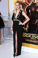 LOS ANGELES, CA, USA - NOVEMBER 17: Ashlee Simpson arrives at the Los Angeles Premiere Of Lionsgate's 'The Hunger Games: Mockingjay, Part 1' held at Nokia Theatre L.A. Live on November 17, 2014 in Los Angeles, California, United States. (Photo by Xavier Collin/Celebrity Monitor)