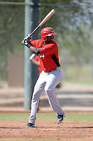 Cincinnati Reds outfielder Gabriel Rosa (50) during an Instructional League game against the Texas Rangers on October 7, 2013 at Goodyear Training Complex in Goodyear, Arizona.  (Mike Janes/Four Seam Images)