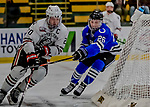 29 December 2018: University of Alabama Huntsville Charger Forward Jack Jeffers, a Freshman from Oakville, Ontario, in first period action against the Northeastern University Huskies at Gutterson Fieldhouse in Burlington, Vermont. The Huskies shut out the Chargers 2-0 in the Catamount Cup tournament at the University of Vermont. Mandatory Credit: Ed Wolfstein Photo *** RAW (NEF) Image File Available ***