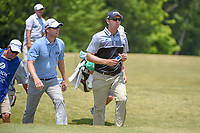 David Hearn (CAN) and Seamus Power (IRL) head down 17 during Round 3 of the Zurich Classic of New Orl, TPC Louisiana, Avondale, Louisiana, USA. 4/28/2018.<br /> Picture: Golffile | Ken Murray<br /> <br /> <br /> All photo usage must carry mandatory copyright credit (&copy; Golffile | Ken Murray)