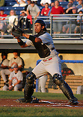 August 28, 2003:  Catcher Luis Alen of the Jamestown Jammers, Class-A affiliate of the Florida Marlins, during a NY-Penn League game at Dwyer Stadium in Batavia, NY.  Photo by:  Mike Janes/Four Seam Images