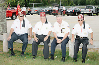 Shriners wait to take part in the Labor Day Parade in Milford, New Hampshire, on Mon., September 2, 2019. Candidates Bernie Sanders and Vermin Supreme were the only candidates who marched in the parade this year.