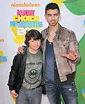 Joe Jonas and Frankie Jonas attends The 24th Annual Kids' Choice Awards held at USC's Galen Center in Los Angeles, California on April 02,2011                                                                               © 2010 DVS / Hollywood Press Agency