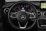 Car pictures of steering wheel view of a 2017 Mercedes Benz GLA AMG Line 5 Door SUV